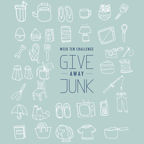 Weekly Challenge Give Away Junk | wemadeithome.com