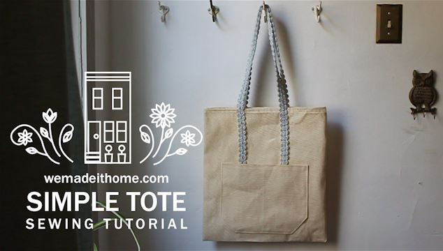 Sewing Tutorial: Simple Tote Bag | wemadeithome.com